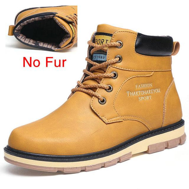 West Louis™ High Quality Warm Winter Boots No Fur Yellow / 7 - West Louis