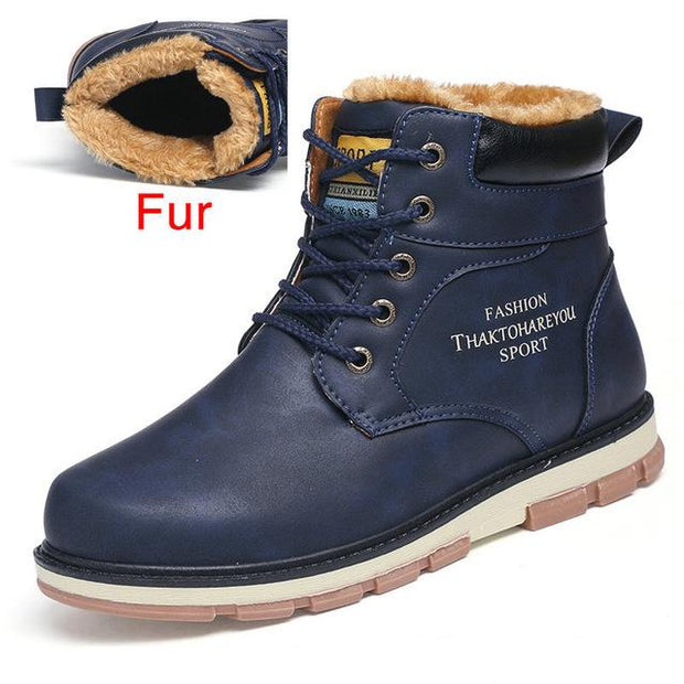 West Louis™ High Quality Warm Winter Boots Fur Blue / 7 - West Louis