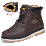 West Louis™ High Quality Warm Winter Boots Fur Dark Brown / 7 - West Louis