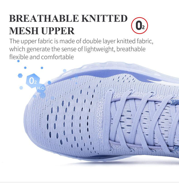 West Louis™ Damping Cushion Breathable Knit Mesh Sneakers  - West Louis
