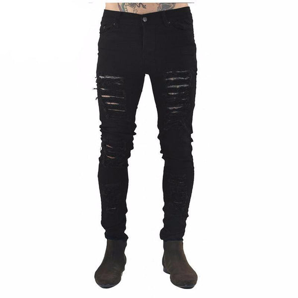 West Louis™  Hip Hop Swag Distressed Slim Jeans [ 3 colors ]  - West Louis
