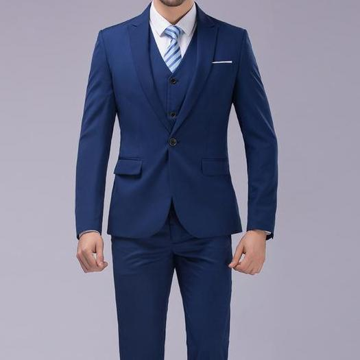 West Louis™ - Luxury Slim Fit 3-pieces Suit(Jacket+Vest+Pants) Blue / S - West Louis