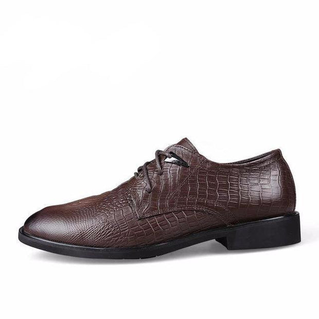 West Louis™ Genuine Leather Formal Shoes Dark Brown / 10 - West Louis
