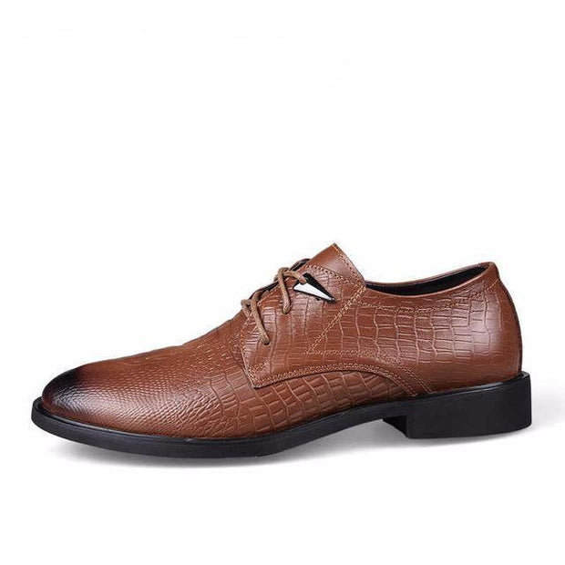 West Louis™ Genuine Leather Formal Shoes Brown / 6.5 - West Louis