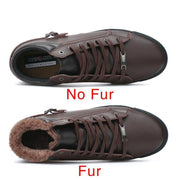 West Louis™ Genuine Leather Handmade Fur Warm Snow Boots  - West Louis