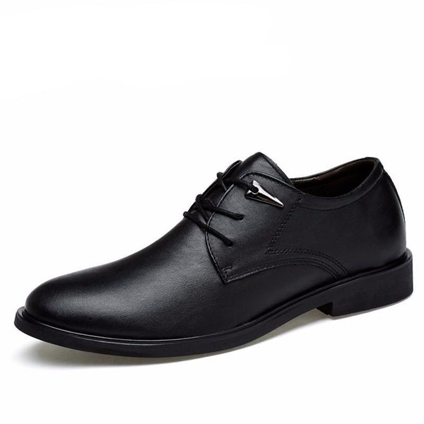 West Louis™ High Quality Genuine Leather Dress Shoes Black / 10 - West Louis