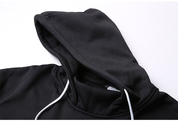 West Louis™ Side Striped Solid Hoodie