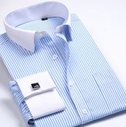 West Louis™ French Cufflinks Shirts Light Blue / S - West Louis
