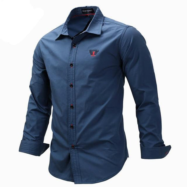 West Louis™ Solid Color Slim Fit Business Dress Shirt