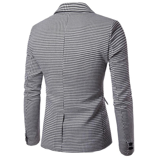 West Louis™ Autumn Plaid Single Breasted Blazer  - West Louis