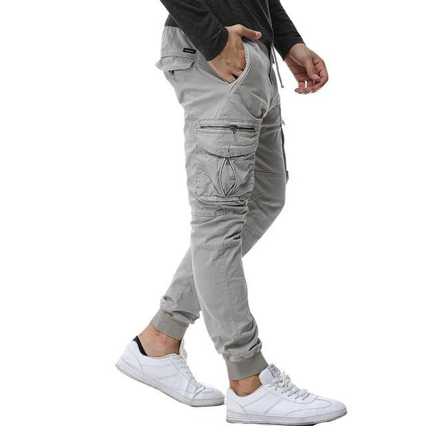 West Louis™ Tactical Cargo Ribbon Pants Light Gray / 29 - West Louis