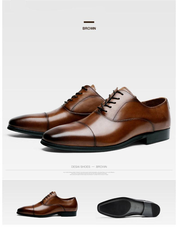 West Louis™ Luxury Cow Leather Oxford Shoes  - West Louis