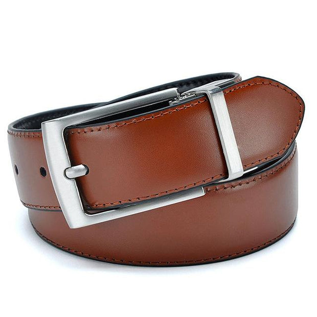 West Louis™ Designer High Quality Genuine Leather Belt Brown / 100cm 32to35 Inch - West Louis