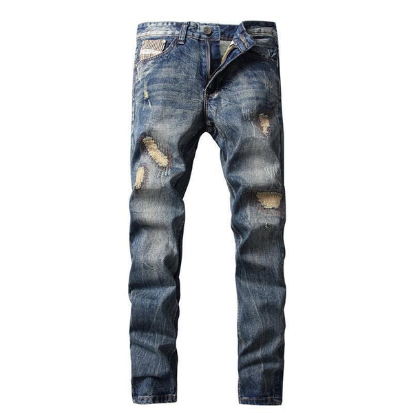 West Louis™ Brand Cotton Jeans Silver / 29 - West Louis