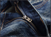 West Louis™ Brand Cotton Jeans  - West Louis