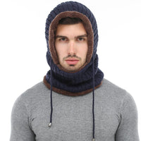 West Louis™ Winter Knitted Hat Beanie Scarf  - West Louis