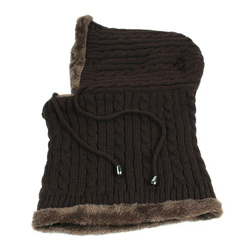 West Louis™ Winter Knitted Hat Beanie Scarf coffee - West Louis