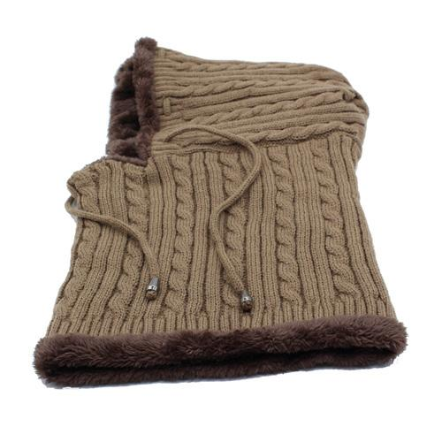 West Louis™ Winter Knitted Hat Beanie Scarf khaki - West Louis