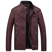 West Louis™ Top Quality PU Leather Jacket Red / XL - West Louis