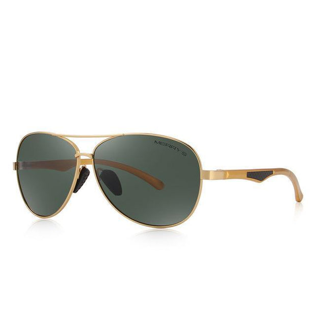 West Louis™ Pilot  HD Polarized Sunglasses Gold - West Louis
