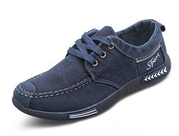 West Louis™ Outdoor Flats Men Canvas Shoes blue / 7 - West Louis