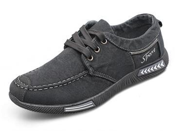 West Louis™ Outdoor Flats Men Canvas Shoes gray / 7 - West Louis