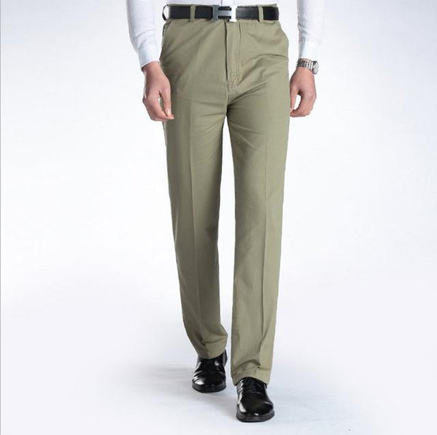 West Louis™ Business Casual Leisure Long Trousers Light Green / 29 - West Louis