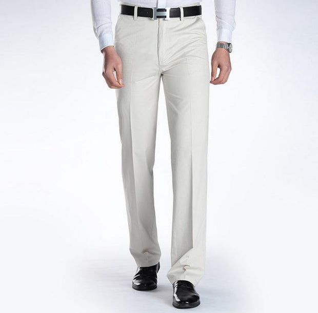 West Louis™ Business Casual Leisure Long Trousers White / 29 - West Louis