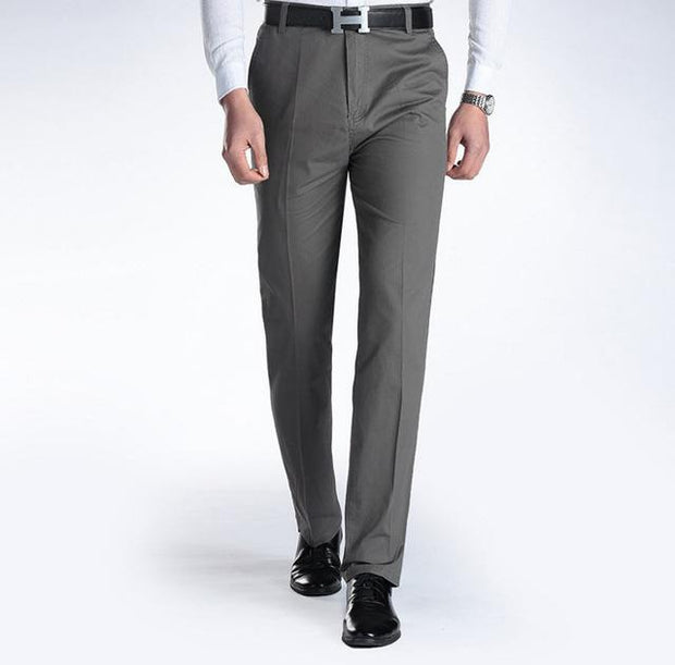 West Louis™ Business Casual Leisure Long Trousers Dark Gray / 29 - West Louis