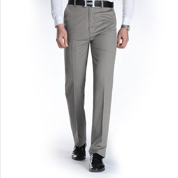 West Louis™ Business Casual Leisure Long Trousers Light Gray / 29 - West Louis