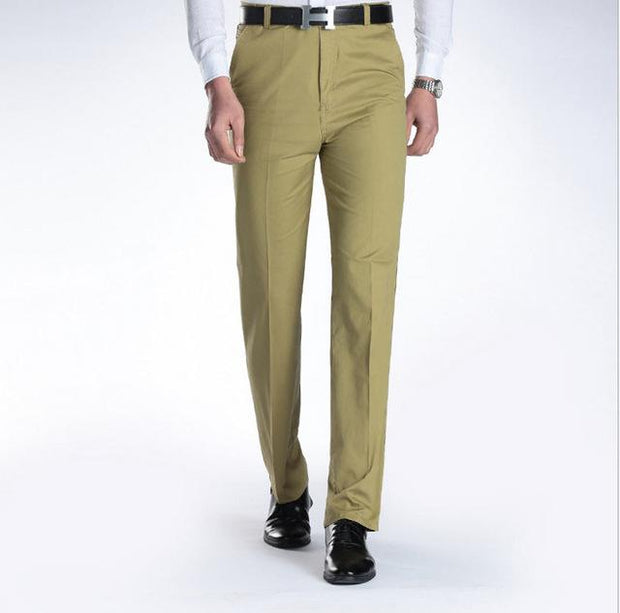 West Louis™ Business Casual Leisure Long Trousers Green / 29 - West Louis