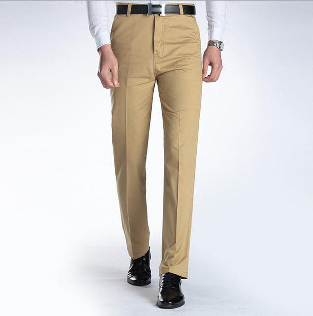 West Louis™ Business Casual Leisure Long Trousers Khaki / 29 - West Louis