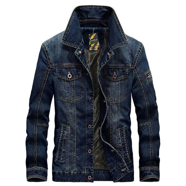 West Louis™American Legend Denim Jacket Dark blue / M - West Louis