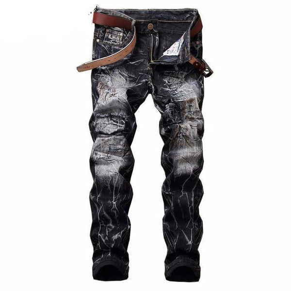 West Louis™  Vintage Hip Hop Jeans Retro black / 29 - West Louis