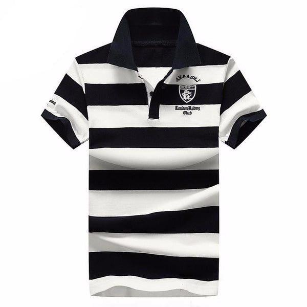 West Louis™ Summer Breathable Striped Polo  - West Louis