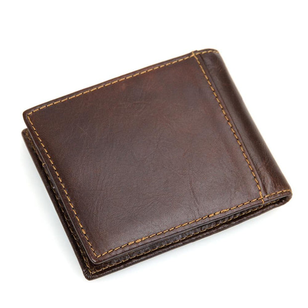 West Louis™ The First Layer Of Leather Wallet  - West Louis