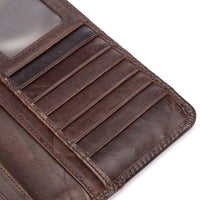 West Louis™ Casual Leather Long Wallet  - West Louis