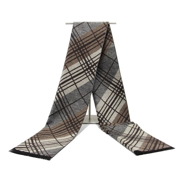 West Louis™ Tassel Double stripe Scarf