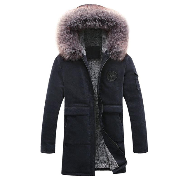 West Louis™ Parkas Fashion Winter Men's Coat Navy / M - West Louis