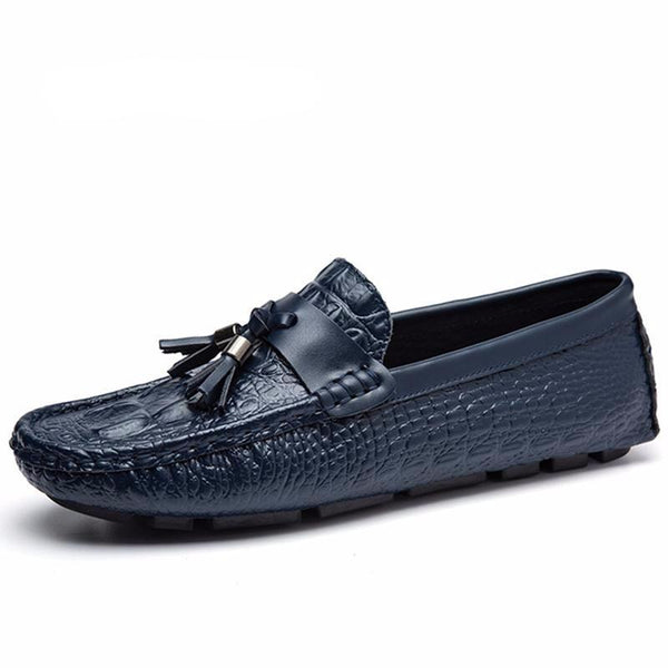 West Louis™ Top Quality Crocodile Pattern Mocasins