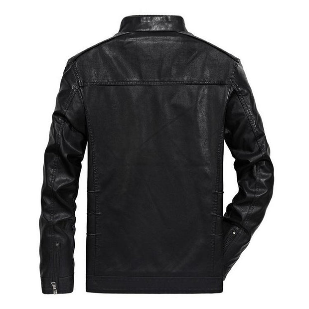 West Louis™ Classical Motorcycle Men Leather Jacket  - West Louis