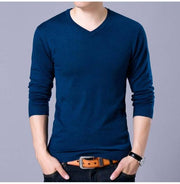 West Louis™ V-Neck Thin Sweater Pullover Navy Blue / M - West Louis