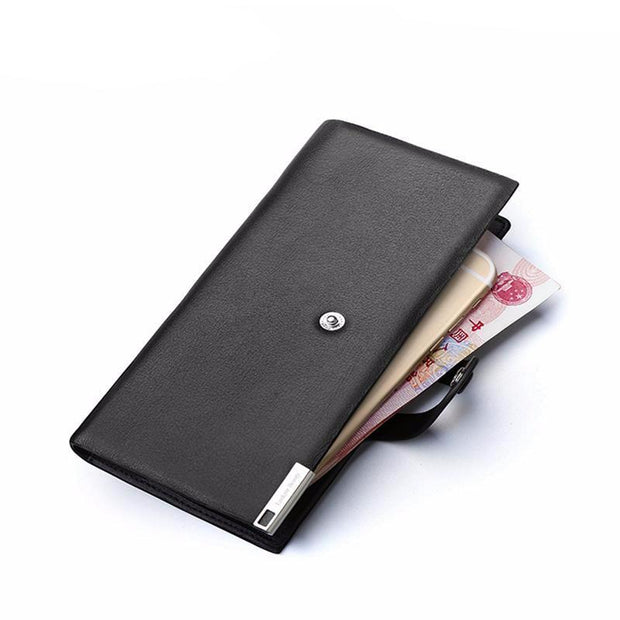 West Louis™ Luxury Genuine Leather Long Wallet  - West Louis
