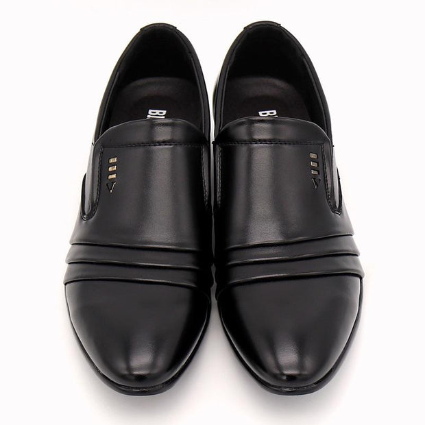 West Louis™ Dress Loafers Pointy Black Shoes  - West Louis