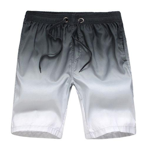 West Louis™ Beach Bottom Trunks Shorts Black White / L - West Louis