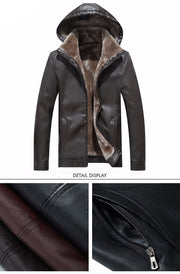 West Louis™ Detachable Slim Fashion Leather Jacket  - West Louis