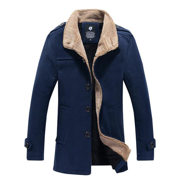 West Louis™ Lambswool Stand Collar Peacoat navy blue / M - West Louis