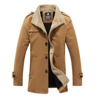 West Louis™ Lambswool Stand Collar Peacoat Khaki / M - West Louis
