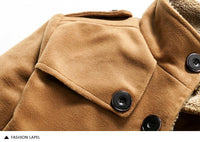 West Louis™ Lambswool Stand Collar Peacoat  - West Louis