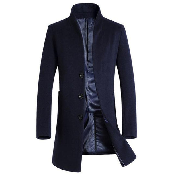 West Louis™ Formal Woolen Business-man Overcoat